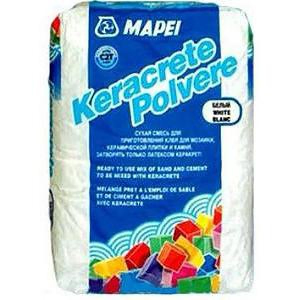 Mapei Клей Keracrete powder (polvere) white RUS, мешок 25 кг